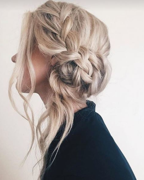 Side Bun Hairstyles: 9 Inspirational Updos For Any Occasion With Stacked Buns Updo Hairstyles (View 22 of 25)
