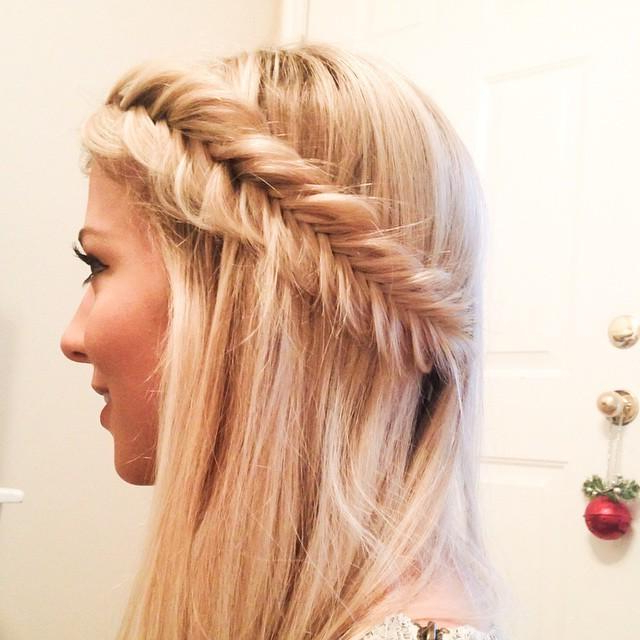 Side Crown Braids Intended For Latest Fishtail Crown Braided Hairstyles (View 13 of 25)