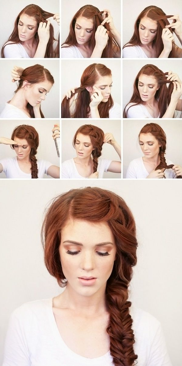 Side Swept Braid Hair You Won't Miss: Hair Tutorials Inside Current Side Swept Carousel Braided Hairstyles (View 7 of 25)