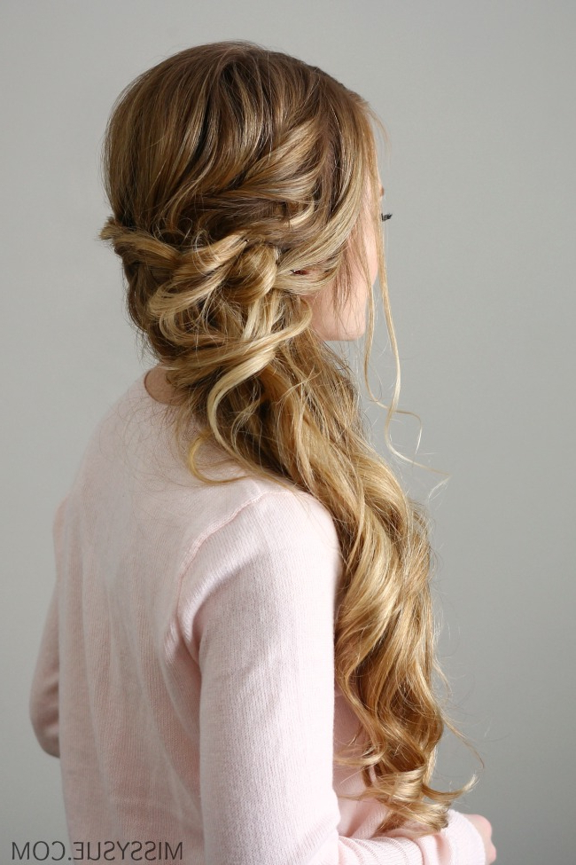 Side Swept Dutch Braid | Missy Sue Within Most Current Side Swept Carousel Braided Hairstyles (View 3 of 25)