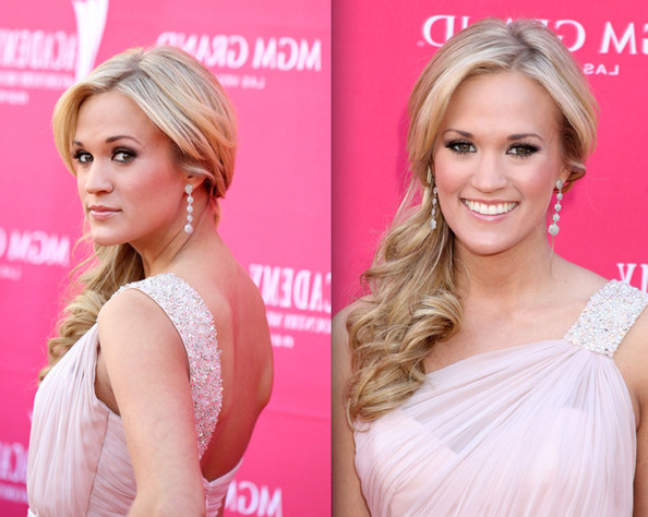 Side Swept Ponytail – Carrie Underwood Prom Hairstyle Ideas Regarding Side Ponytail Prom Hairstyles (View 20 of 25)