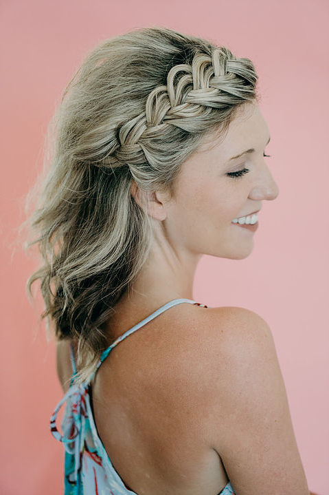 Simple Styles For Short Hair Pertaining To Ethereal Updo Hairstyles With Headband (View 15 of 25)