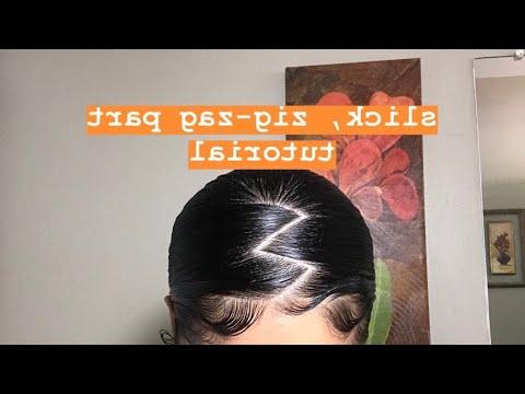 Slick Zig Zag Ponytail + Edges Throughout Zig Zag Ponytail Updo Hairstyles (View 2 of 25)