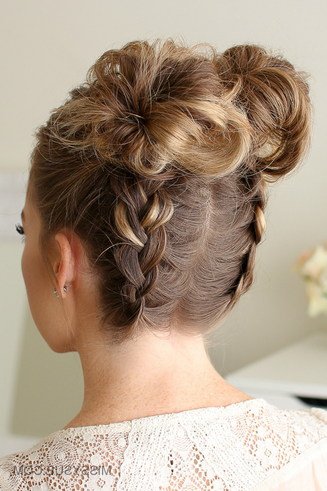 Space Buns Archives | Missy Sue Regarding Braided Space Buns Updo Hairstyles (View 13 of 25)
