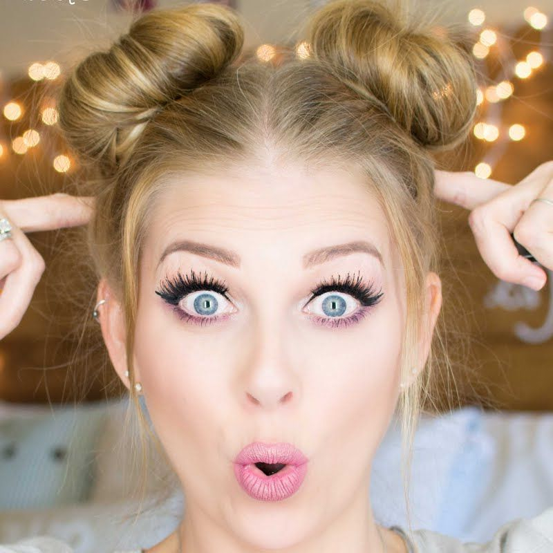 Space Buns || Double Buns Tutorial | Fashion Wish List In Within Double Mini Buns Updo Hairstyles (View 3 of 25)