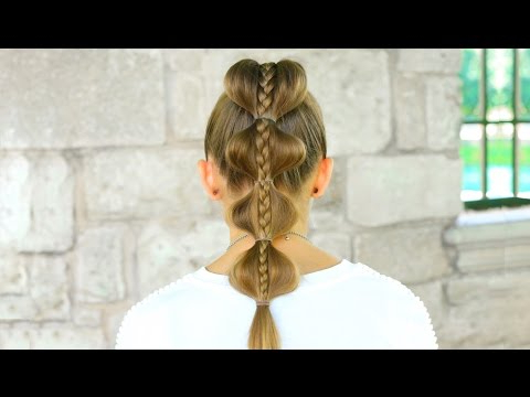 Stacked Bubble Braid | Back To School Hairstyles – Youtube In Bubble Braid Updo Hairstyles (View 20 of 25)