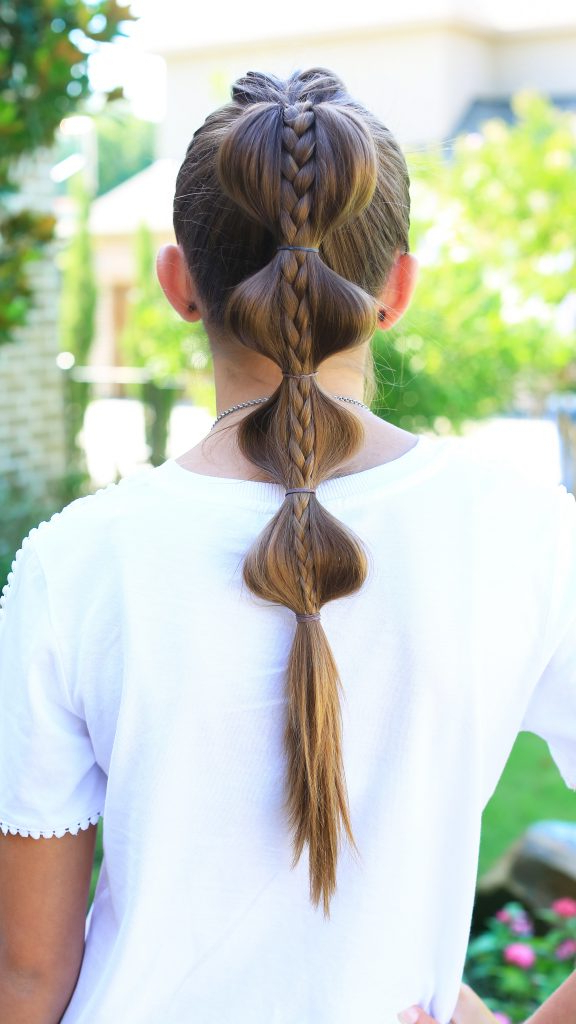 Stacked Bubble Braid | Cute Girls Hairstyles With Bubble Braid Updo Hairstyles (View 8 of 25)