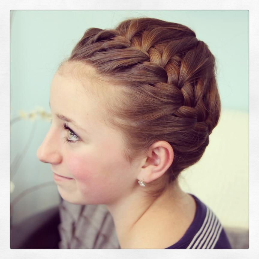 Starburst Crown Braid | Updo Hairstyles | Cute Girls Hairstyles Within Crown Braid Updo Hairstyles (View 4 of 25)