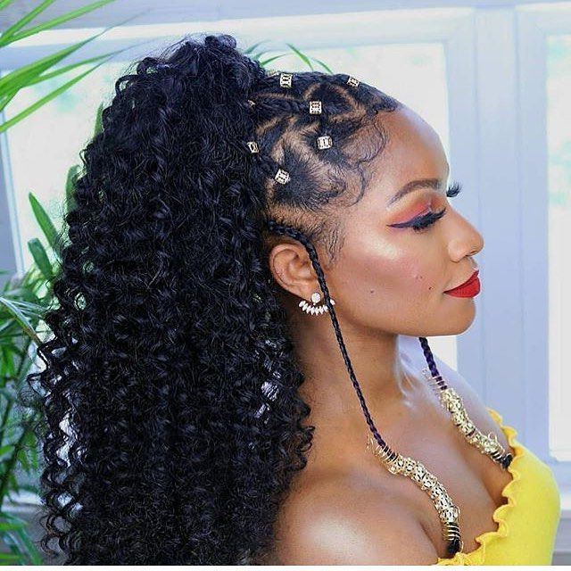 Stunning Braid Hairstyles With Weave Inside Most Recently Angular Crown Braided Hairstyles (View 25 of 25)