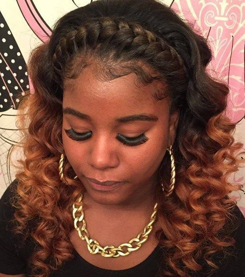 Stunning Braid Hairstyles With Weave With Regard To Latest Angular Crown Braided Hairstyles (View 19 of 25)