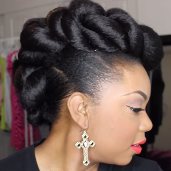Stunning Wedding Hairstyles For Black Women – More Throughout Twisted Faux Hawk Updo Hairstyles (View 16 of 25)