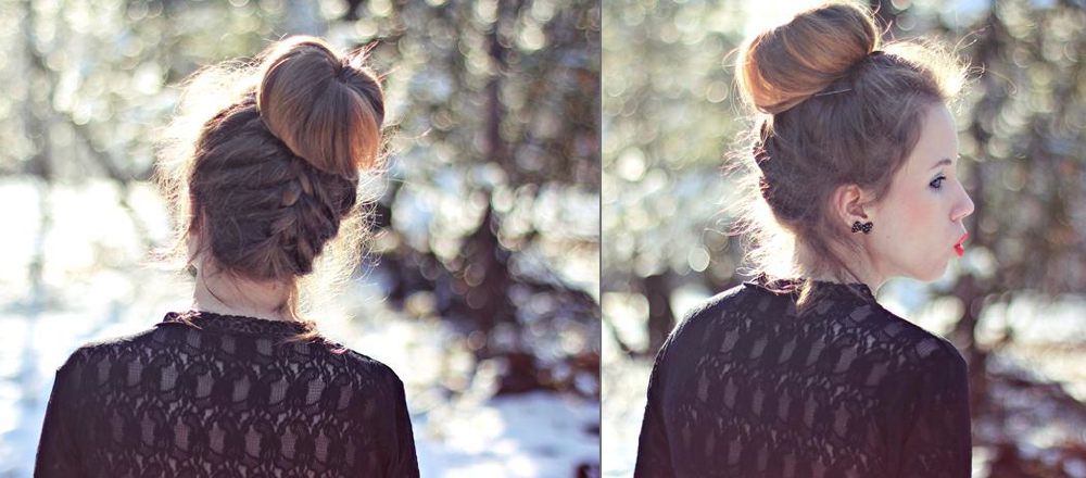 Stylenoted   Blogger Hairstyle: Underside Braid Into A Bun Pertaining To Most Popular Braided Underside Hairstyles (View 7 of 25)
