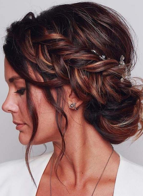 Stylish Braided Updo Hairstyles For Modern Look In 2018 Regarding Ethereal Updo Hairstyles With Headband (View 23 of 25)