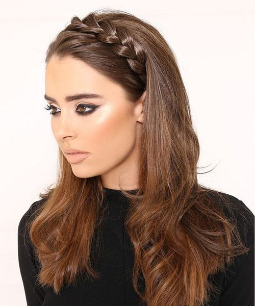 Super Cute Braided Headband Hairstyles 2017 – 2018 For Women Regarding Recent Full Headband Braided Hairstyles (View 5 of 25)