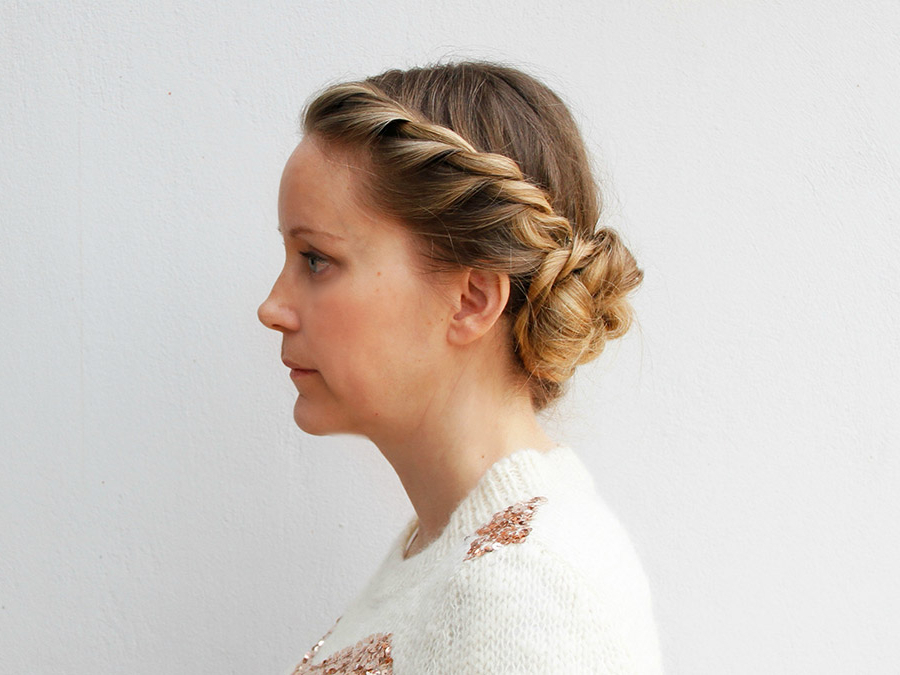 Sweet And Simple: How To Get This Rope Braid Updo – More With Regard To Twisted Rope Braid Updo Hairstyles (View 5 of 25)