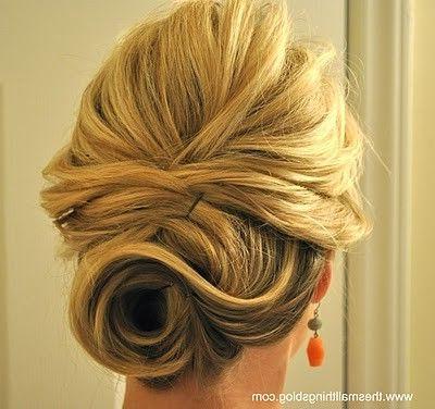 Swirl Bun Classy And Sexy | ? H A I R G O A L S Throughout Swirl Bun Updo Hairstyles (View 4 of 25)