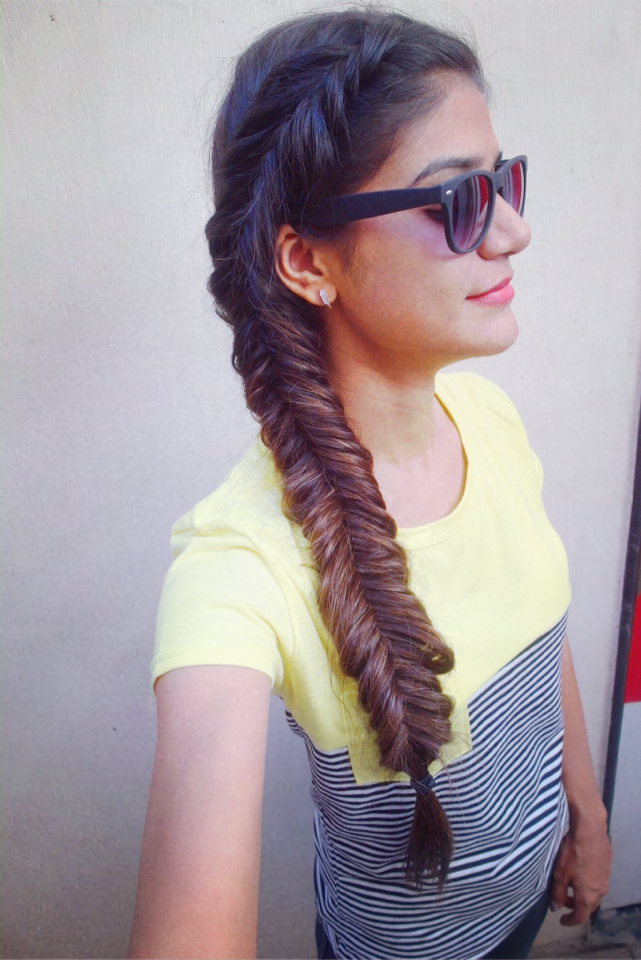 Tanvi Vayla » Dutch Fishtail Side Braid Throughout 2020 Fishtail Side Braided Hairstyles (View 18 of 25)