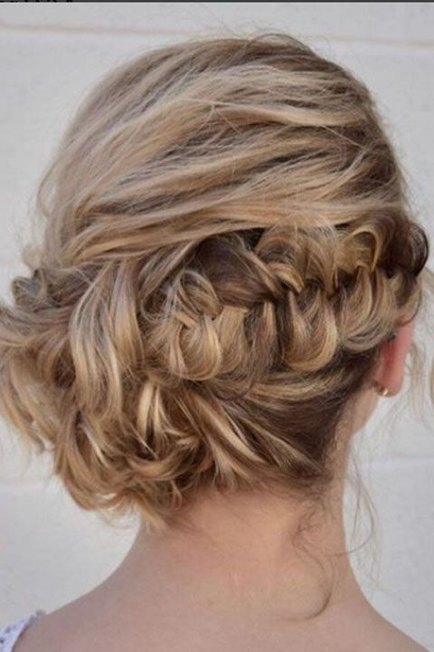 Teased Fishtail Bun Updo | Prom Hairstyles In 2019 | Prom For Teased Fishtail Bun Updo Hairstyles (View 2 of 25)