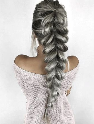 The Fishtail Braid | Hair | Hair Styles, Ponytail Hairstyles With Most Recently Billowing Ponytail Braided Hairstyles (View 9 of 25)