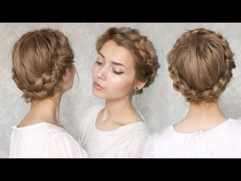 The Halo Braid || Tutorial – Youtube Within Most Popular Halo Braided Hairstyles With Bangs (View 19 of 25)