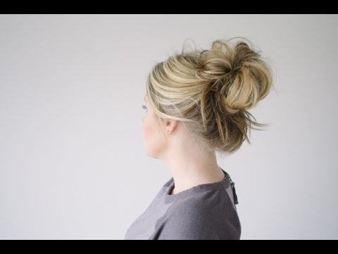 The Messy Bun Regarding Stacked Mini Buns Hairstyles (View 20 of 25)