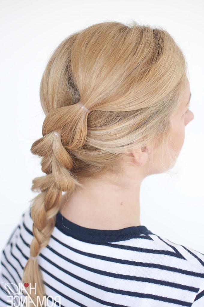 The No Braid Braid – 5 Pull Through Braid Tutorials – Hair Within Pull Through Ponytail Updo Hairstyles (View 10 of 25)