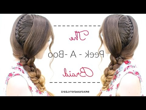 The Peek – A – Boo Braid | School Hairstyles Intended For Newest Peek A Boo Braided Hairstyles (View 19 of 25)