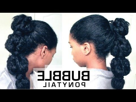 The Perfect Bubble Ponytail On Natural Hair | How To With Regard To Natural Bubble Ponytail Updo Hairstyles (View 11 of 25)