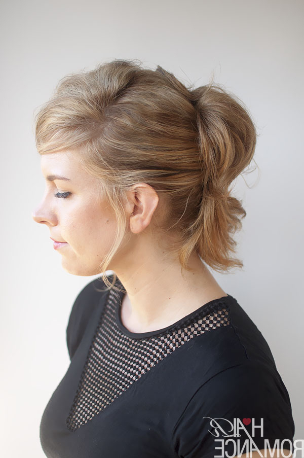 The Pinned Up Ponytail Hairstyle Tutorial – Hair Romance For Romantic Ponytail Updo Hairstyles (View 24 of 25)