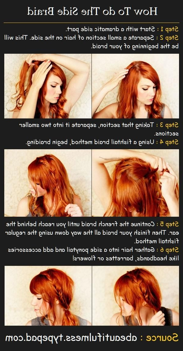 The Side Braid Hairstyle | Beaux Cheveux | Side Braid With Newest Dramatic Side Part Braided Hairstyles (View 5 of 25)