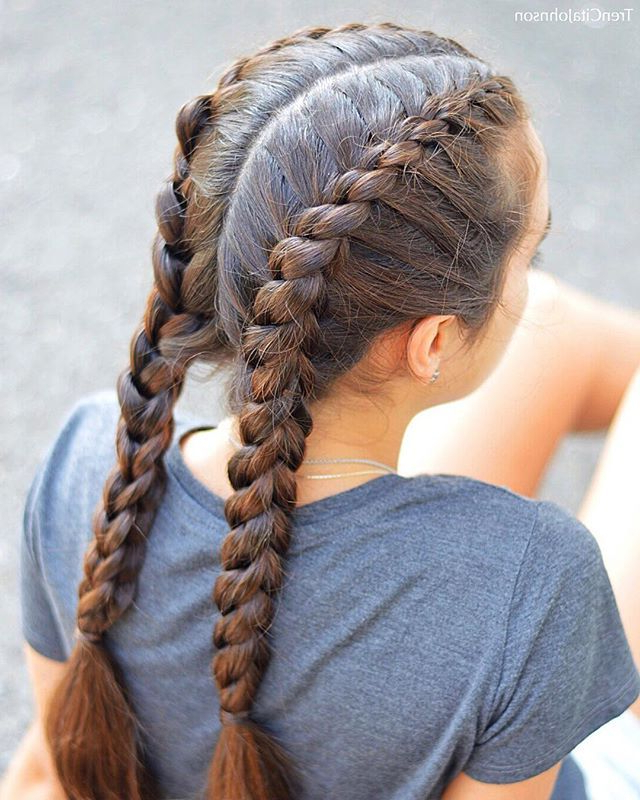Featured Photo of Three Strand Pigtails Braided Hairstyles