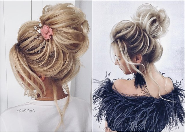 Top 20 High Bun Wedding Updo Hairstyles | Deer Pearl Flowers Within Pearl Bun Updo Hairstyles (View 3 of 25)