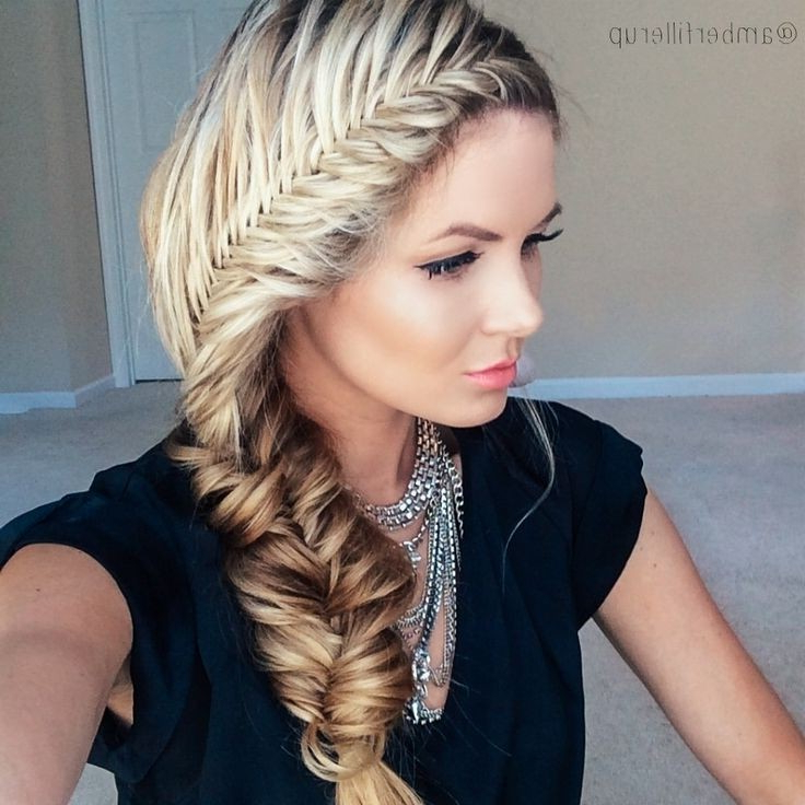 Top 21 Fishtail Braid Hairstyles You'll Love! In Current Messy Side Fishtail Braided Hairstyles (View 9 of 25)