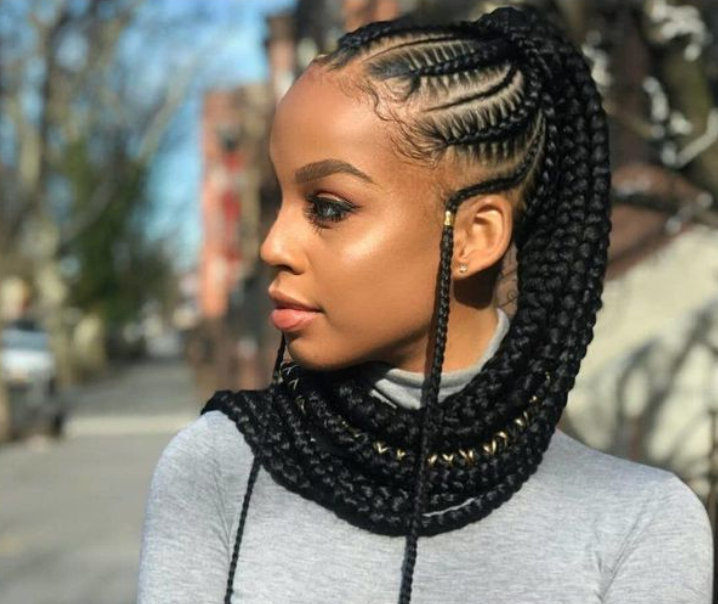 Top 30 Cornrow Braid Hairstyles For You To Try Out Regarding Most Current Metallic Side Cornrows Braided Hairstyles (View 21 of 25)