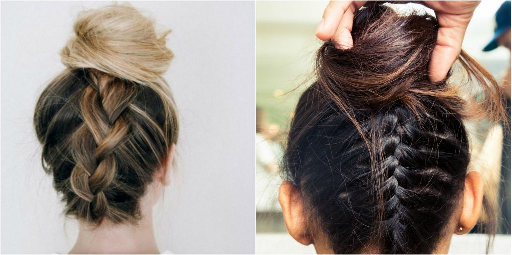 Top Knot Hairstyles | Glam & Gowns Blog In Latest Braided Top Knot Hairstyles (View 19 of 25)