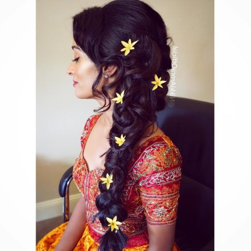 Traditional Indian Messy Side Braid | Braid Hairstyles For Inside 2020 Messy Side Fishtail Braided Hairstyles (View 15 of 25)