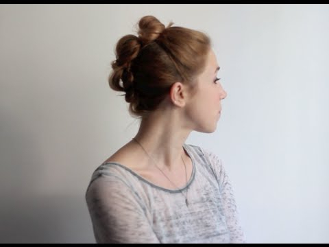 Triple Stacked Buns Hair Tutorial For Stacked Mini Buns Hairstyles (View 3 of 25)