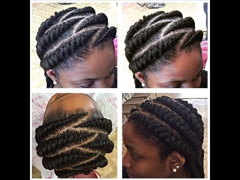 Tutorial: Big Cornrows Pertaining To Most Current Thick Cornrows Braided Hairstyles (View 14 of 25)