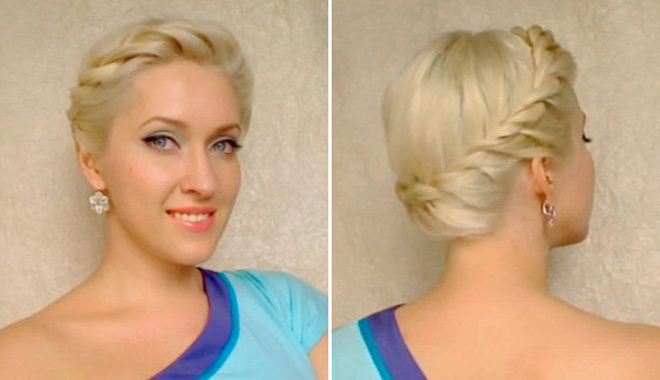 Twisted Crown Braid Updo Tutorial | Fashionisers© With Regard To Crown Braid Updo Hairstyles (View 22 of 25)