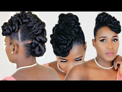 Twisted Faux Hawk Updo | Ez Twin Braid |Toyokalon – Youtube Throughout Twisted Faux Hawk Updo Hairstyles (View 3 of 25)