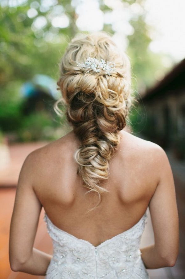 Twisted Fishtail Braid Updo Wedding Hairstyle | Deer Pearl Intended For Fishtail Braid Updo Hairstyles (View 21 of 25)