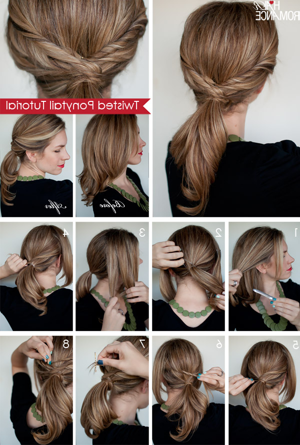 Twisted Ponytail Tutorial – Hair Romance In Romantic Ponytail Updo Hairstyles (View 17 of 25)