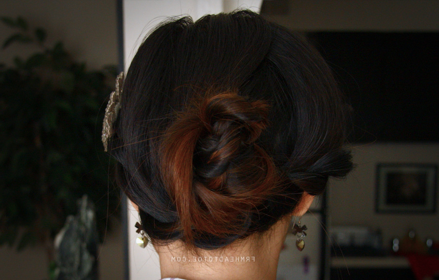 Twisted Rope Braid Updo – From Head To Toe Within Twisted Rope Braid Updo Hairstyles (View 19 of 25)