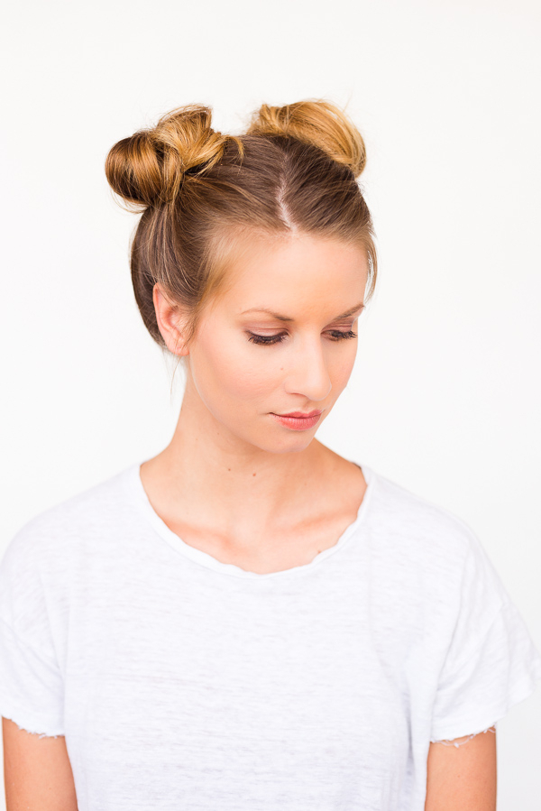 Two Buns Are Better Than One: Double Bun Hair Tutorial Inside Double Mini Buns Updo Hairstyles (View 4 of 25)