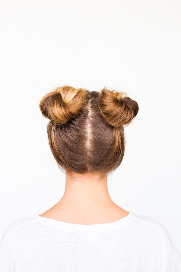 Two Buns Are Better Than One: Double Bun Hair Tutorial Pertaining To Double Mini Buns Updo Hairstyles (View 9 of 25)