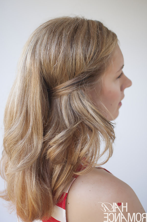 Two Easy Ways To Pin Back Your Hair – Hair Romance For Pinned Back Side Hairstyles (View 10 of 25)