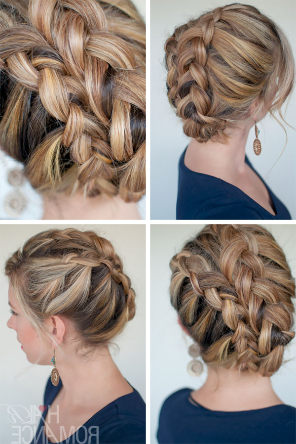 Ultra Trendy Asymmetrical Double Dutch Diagonal Braids Throughout Dutch Braid Updo Hairstyles (View 20 of 25)