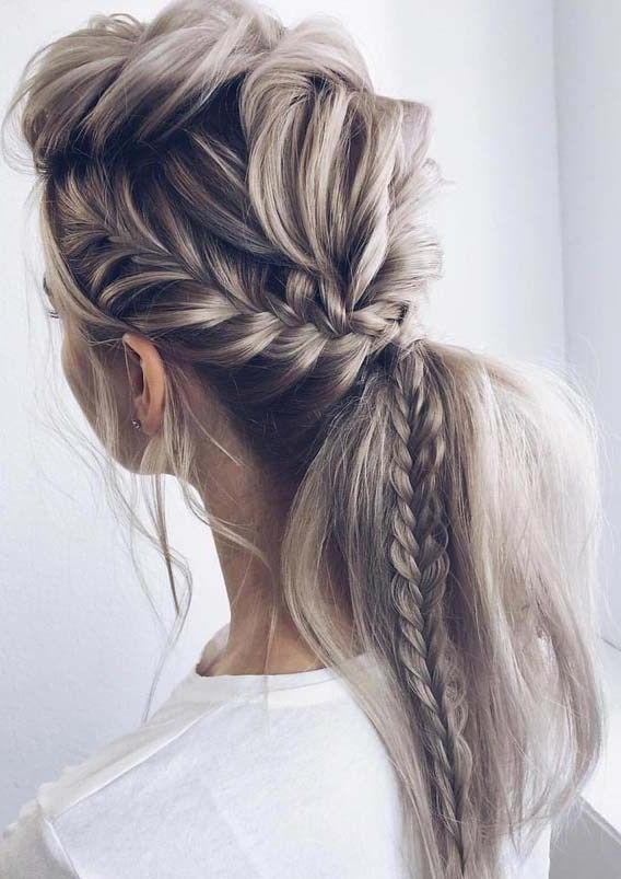 Unique Fishtail Braid Ponytail Hairstyles For 2018 With Most Recent Ponytail Fishtail Braided Hairstyles (View 5 of 25)