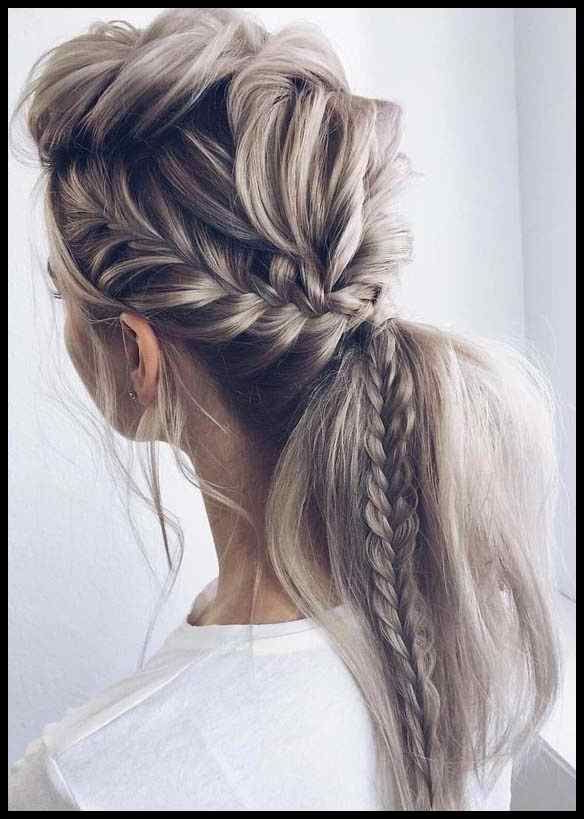 Unique Fishtail Braid Ponytail Hairstyles For 2019 Regarding Recent Fishtail Braid Pontyail Hairstyles (View 9 of 25)