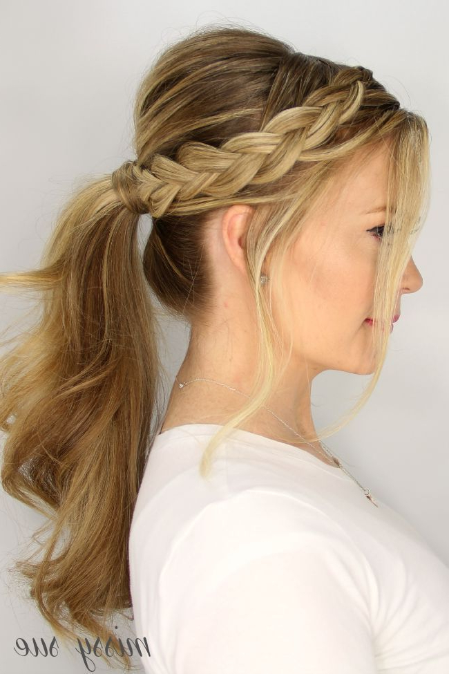 Updo Braided Ponytail Hairstyles | Prom Hair | Ponytail Regarding Braided Ponytails Updo Hairstyles (View 20 of 25)